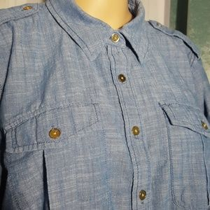 Jones New York Tops - Jones New York Jeans Chambrey Button Down Shirt